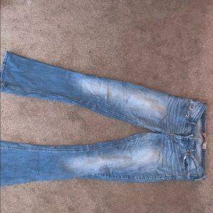 Size 5 (27) hollister boot cut jeans